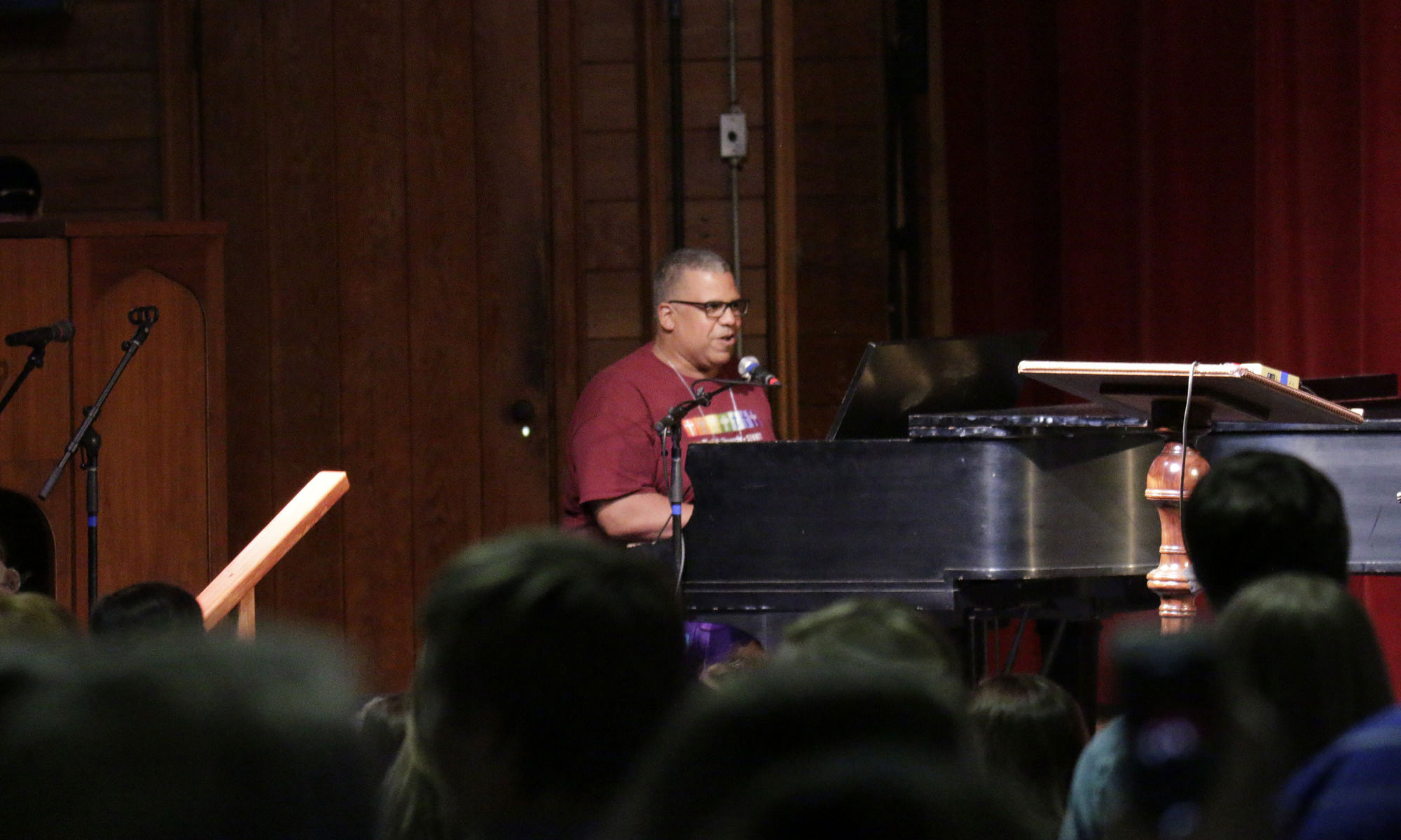 Mark Miller at the Youth Talent Show